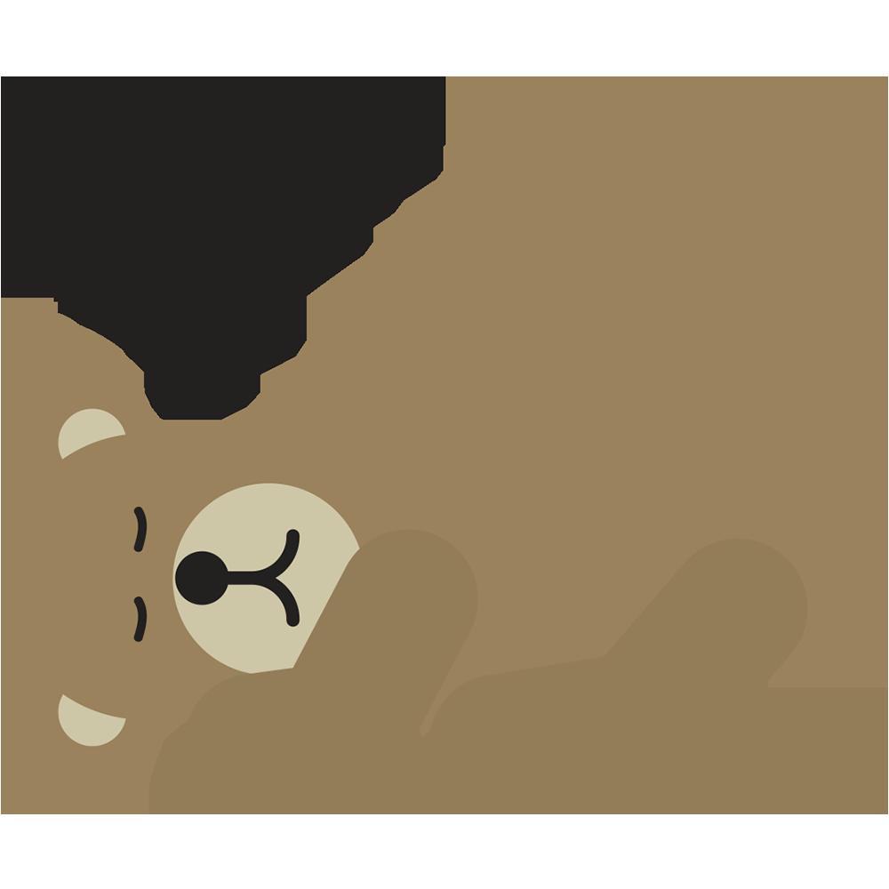 emoji clipart bear