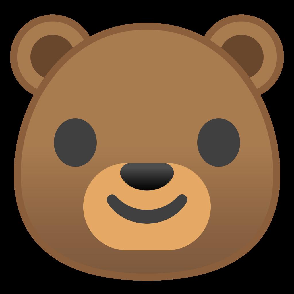 Face icon noto animals. Emoji clipart bear
