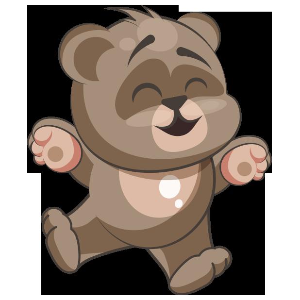 Cuddlebug teddy stickers by. Emoji clipart bear