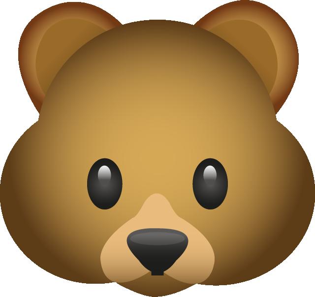 Emoji clipart bear. Download image in png