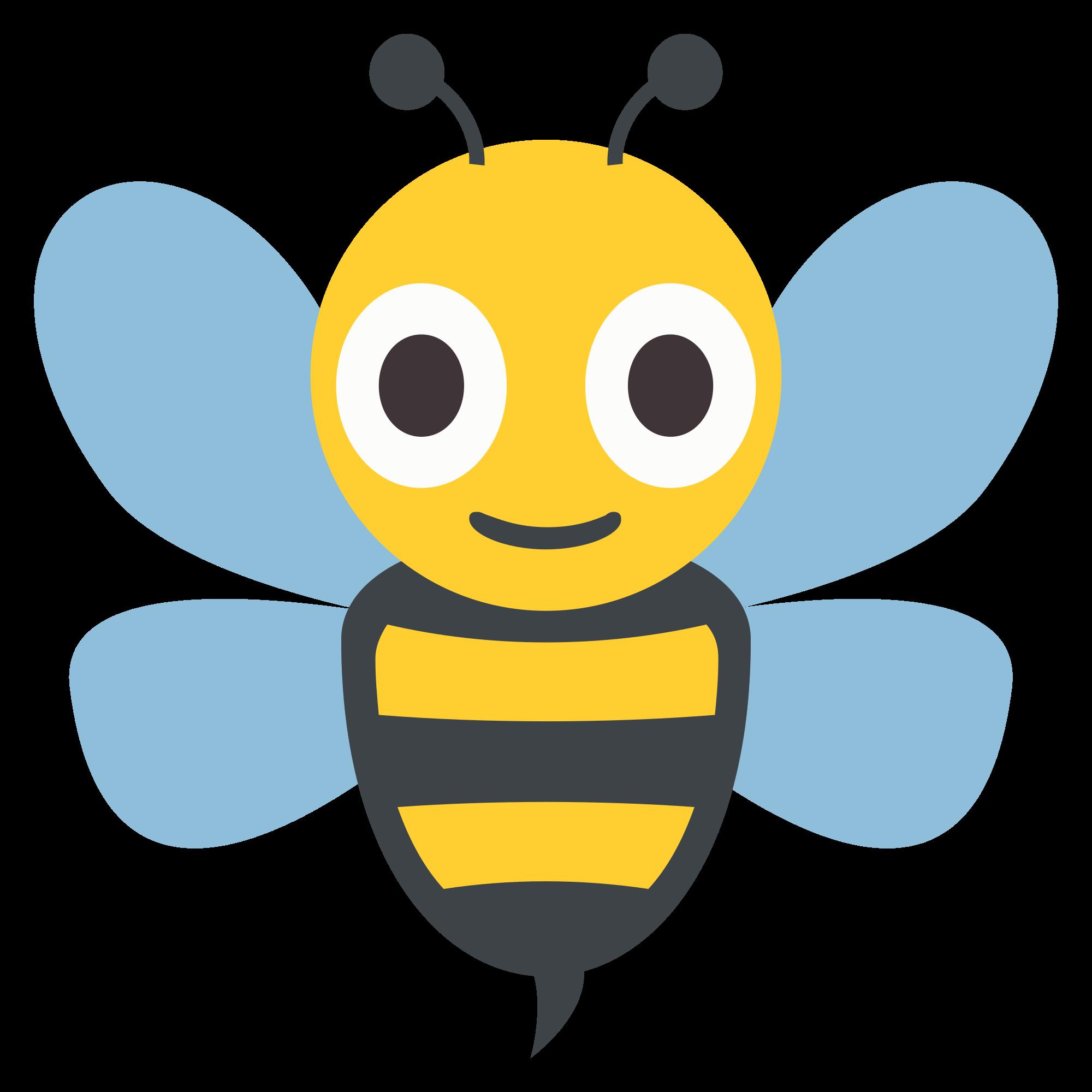 File emojione f d. Emoji clipart bee