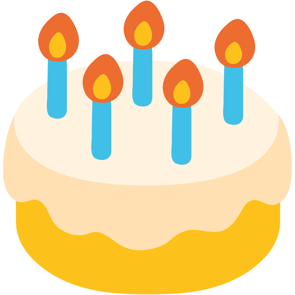 . Emoji clipart birthday cake