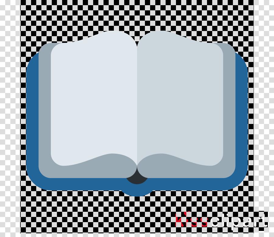 Emoji clipart book. Blue transparent clip art