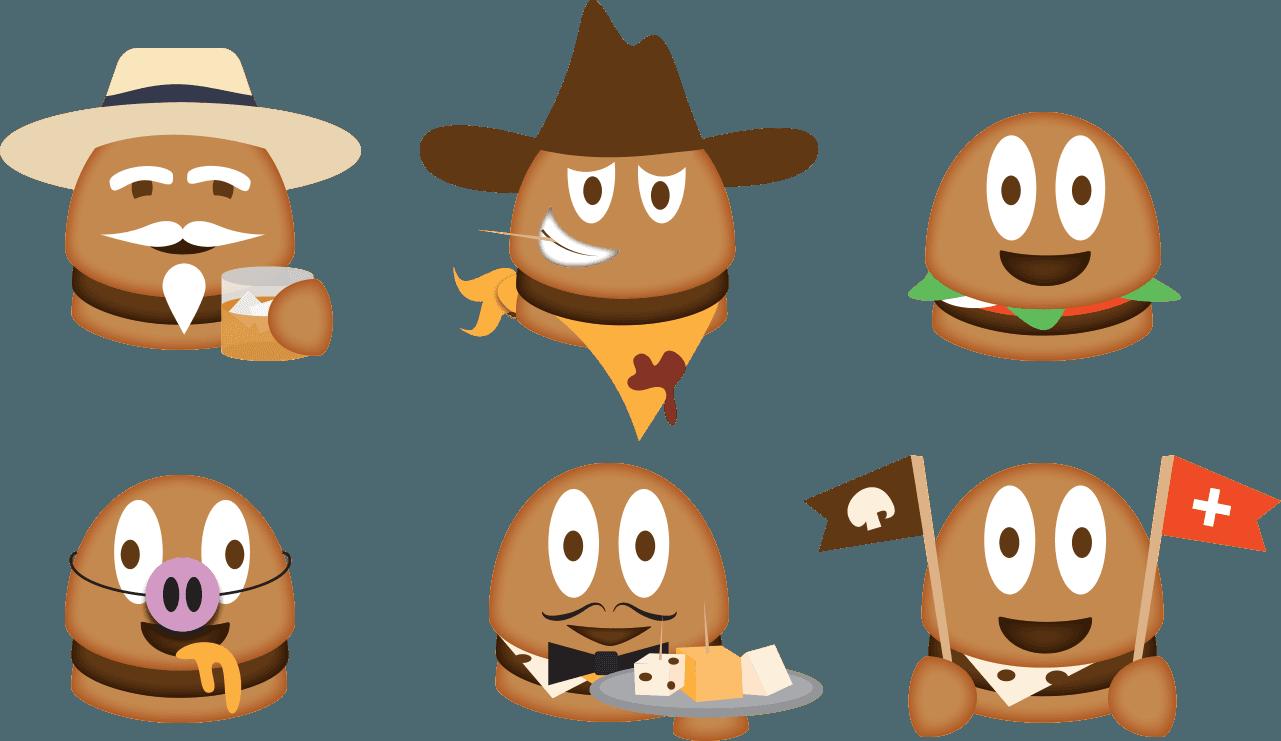 Emoji clipart burger. Campaign ell creative rather