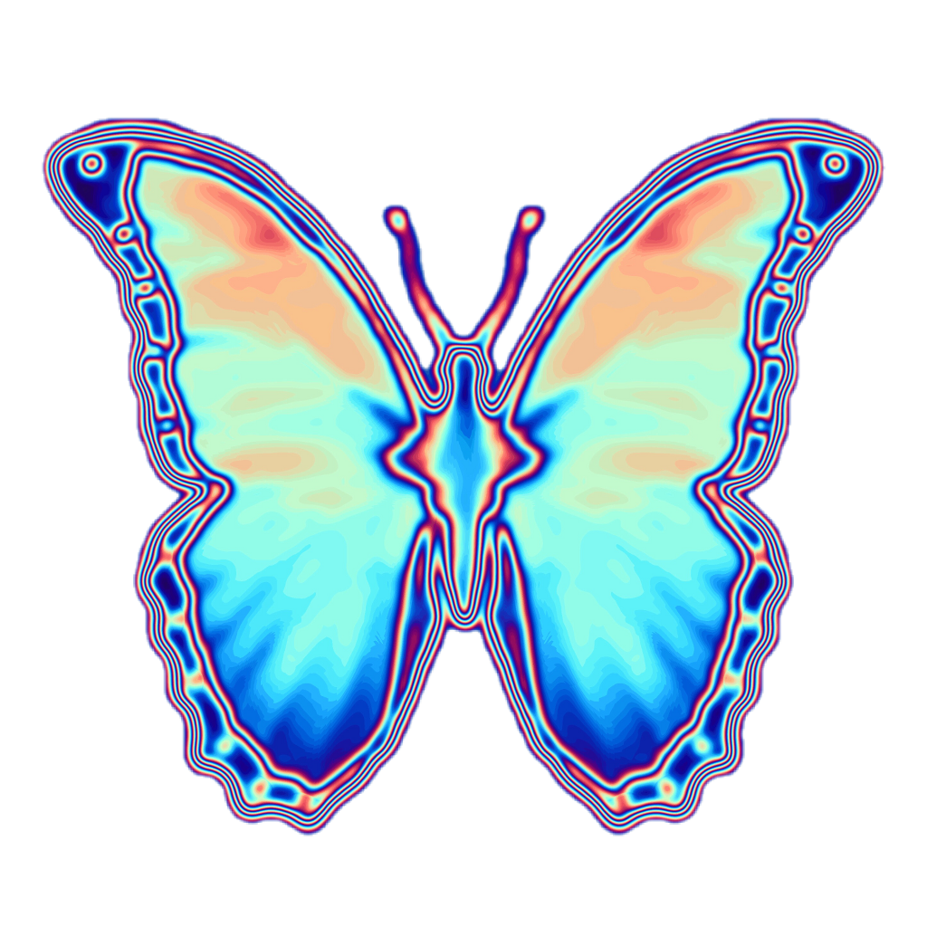 Iphone Transparent Background Blue Butterfly Emoji