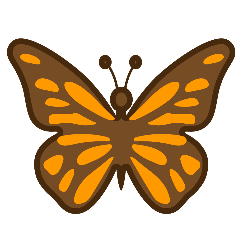 Icon noto animals nature. Emoji clipart butterfly