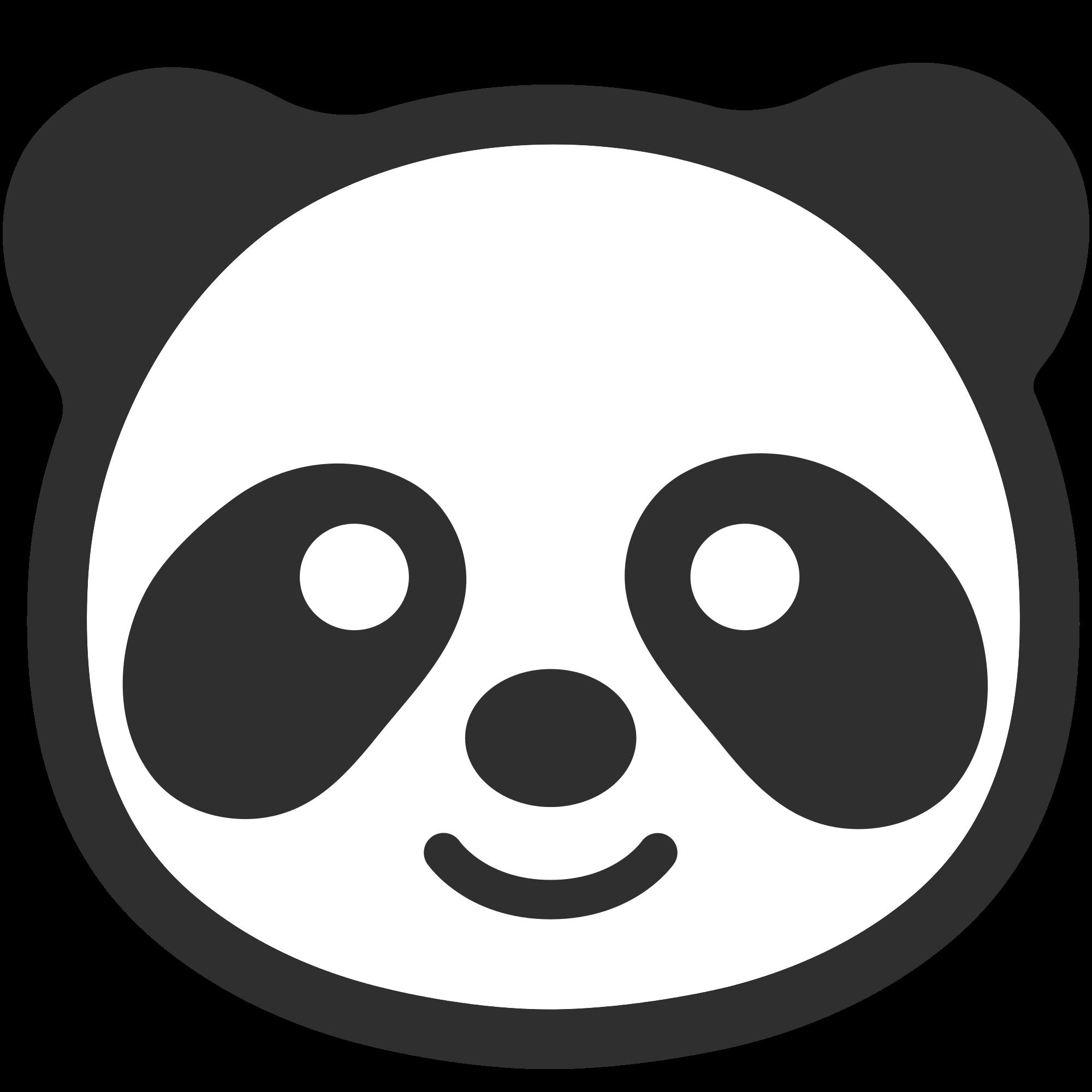 Panda transparent png stickpng. Emoji clipart coloring