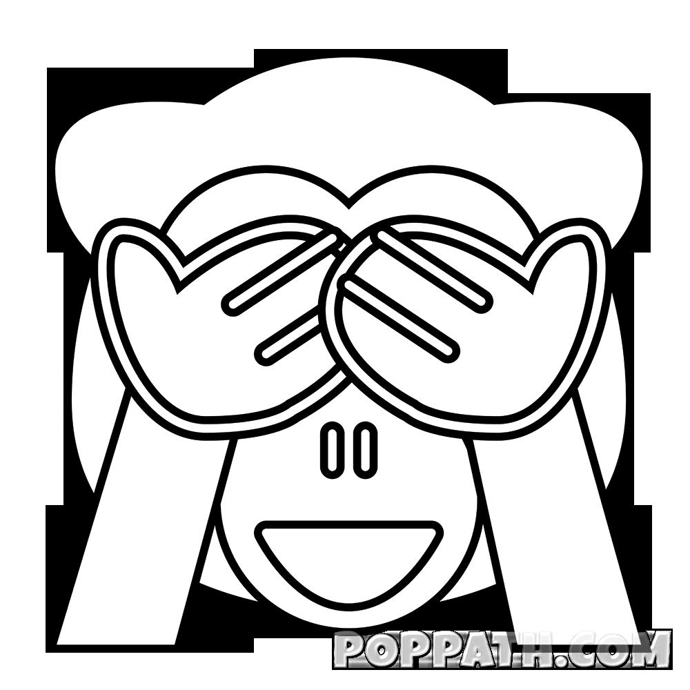 Emoji clipart coloring. Drawing at getdrawings com