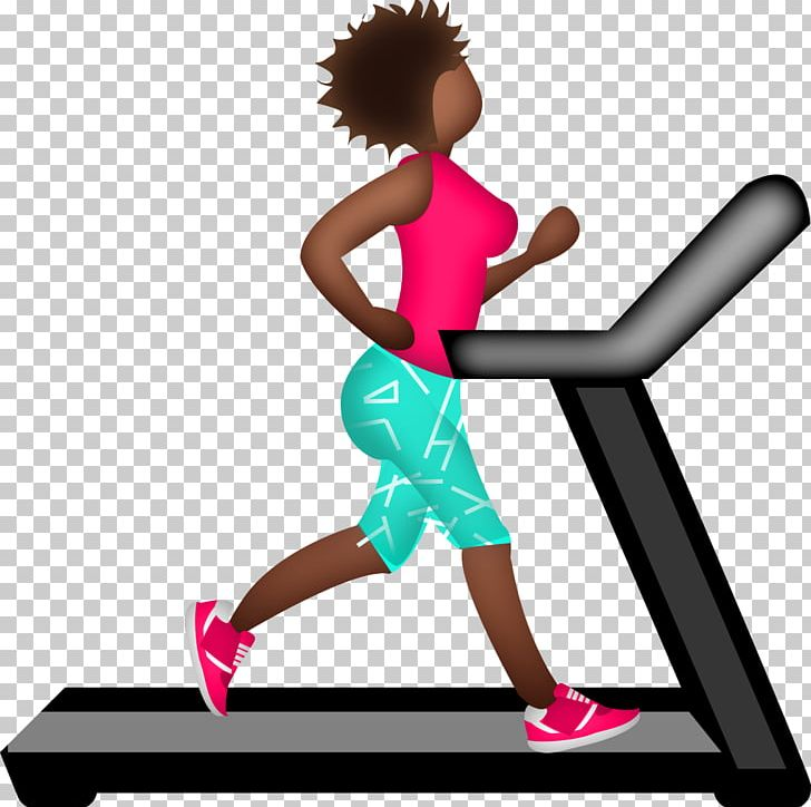 Emoji clipart exercise. Running treadmill physical marathon