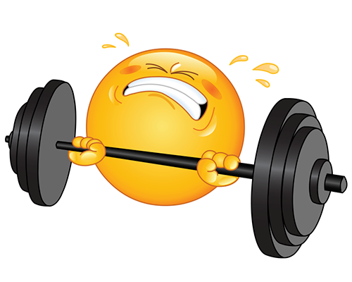 Emoji clipart exercise. Fitness smiley www facebook