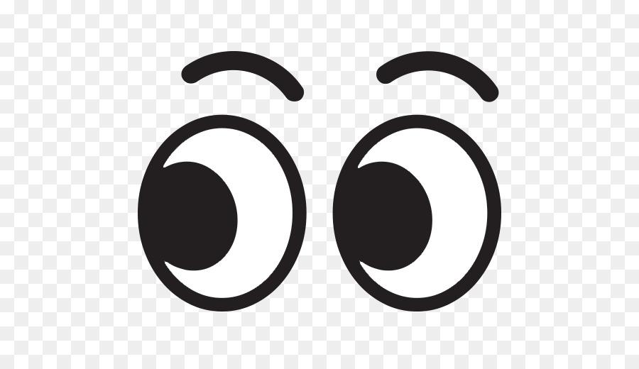 Black and white emoticon. Emoji clipart eyes