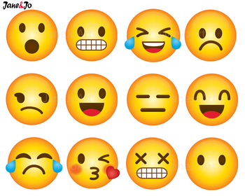Feelings clipart face student. Emoji clip art emoticons