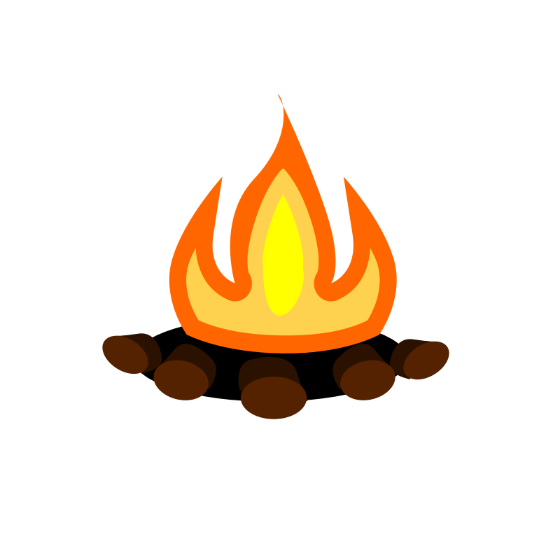 Emoji clipart fire. Cliparthot of camping to