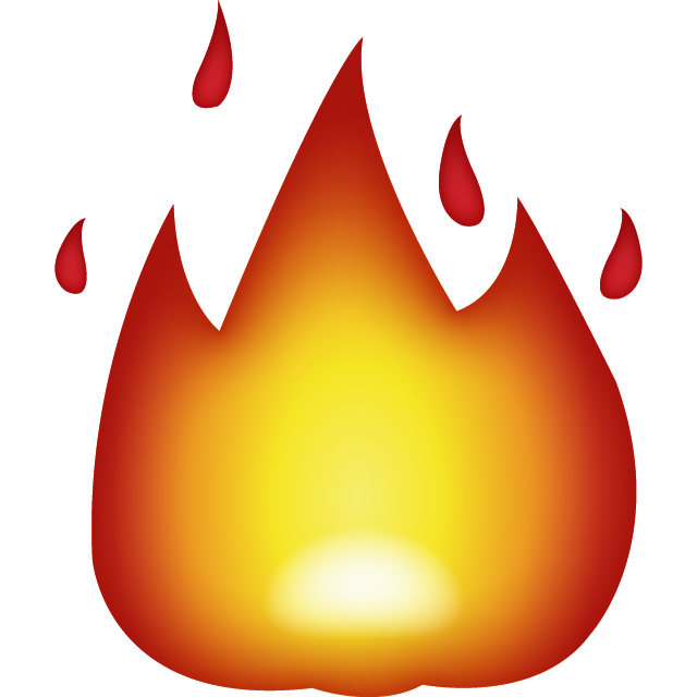 collection of drawing. Emoji clipart fire