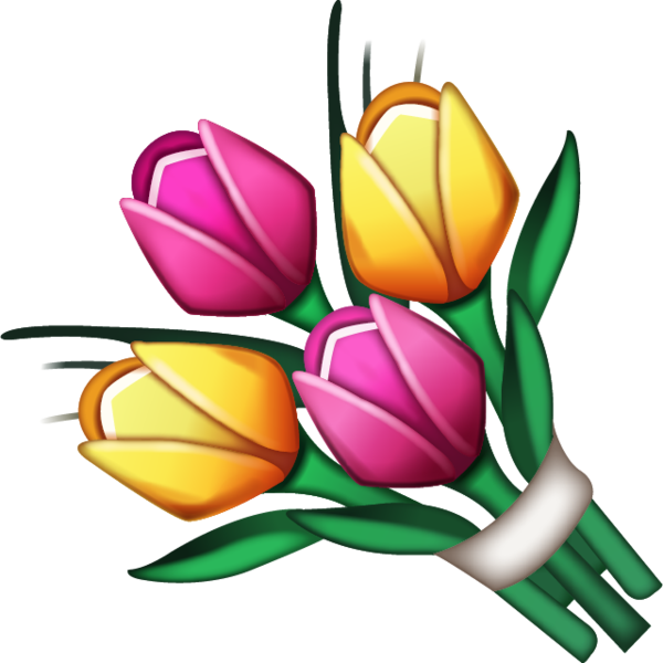 Download bouquet image in. Flower emoji png