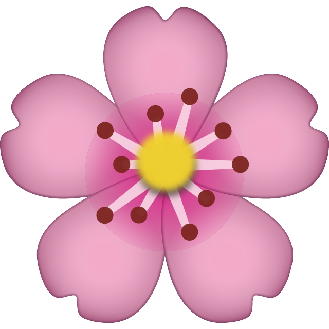 Flower emoji png. Download cherry blossom icon