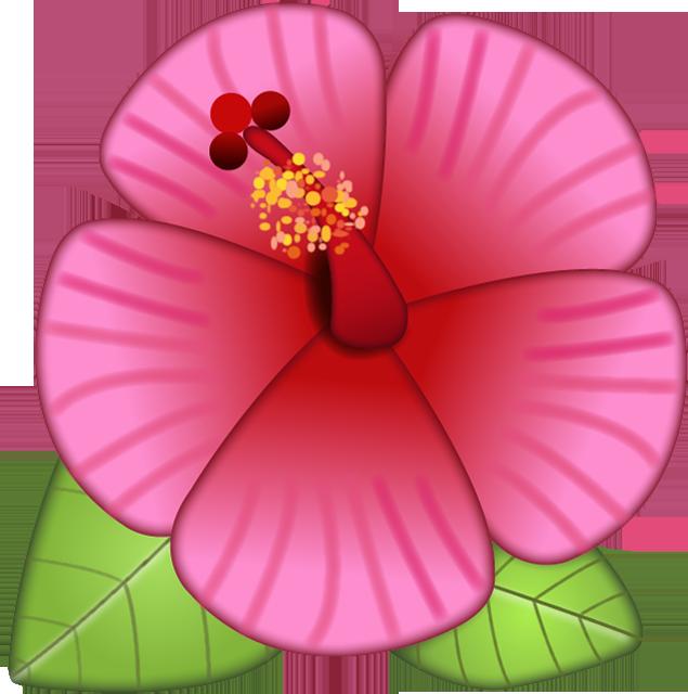 Hibiscus clipart island flower. Download emoji image in