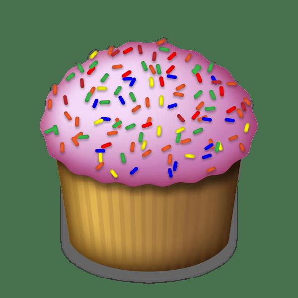 Emoji transparent png stickpng. Muffin clipart rainbow cupcake