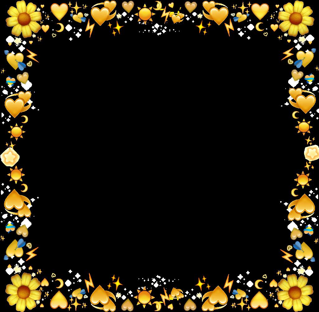 Emoji clipart frame. Emojis yellow jaune flower