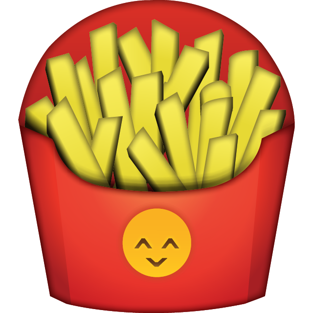 French fries png v. Emoji clipart fry