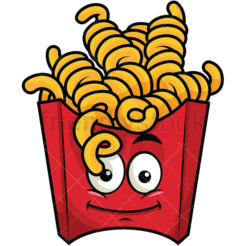 Fries clipart face. Curly french emoji graphic