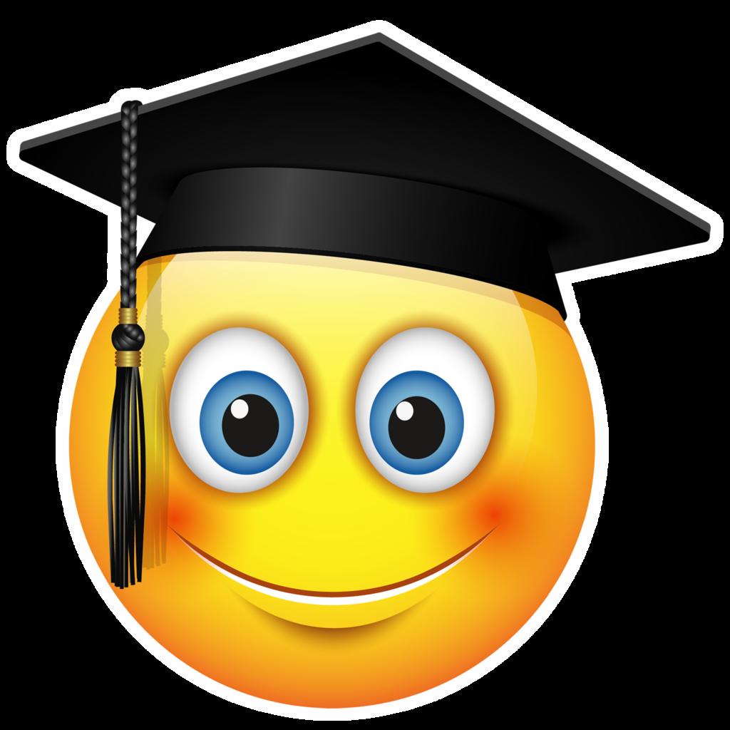 Special occasion emojis pop. Graduation clipart prop