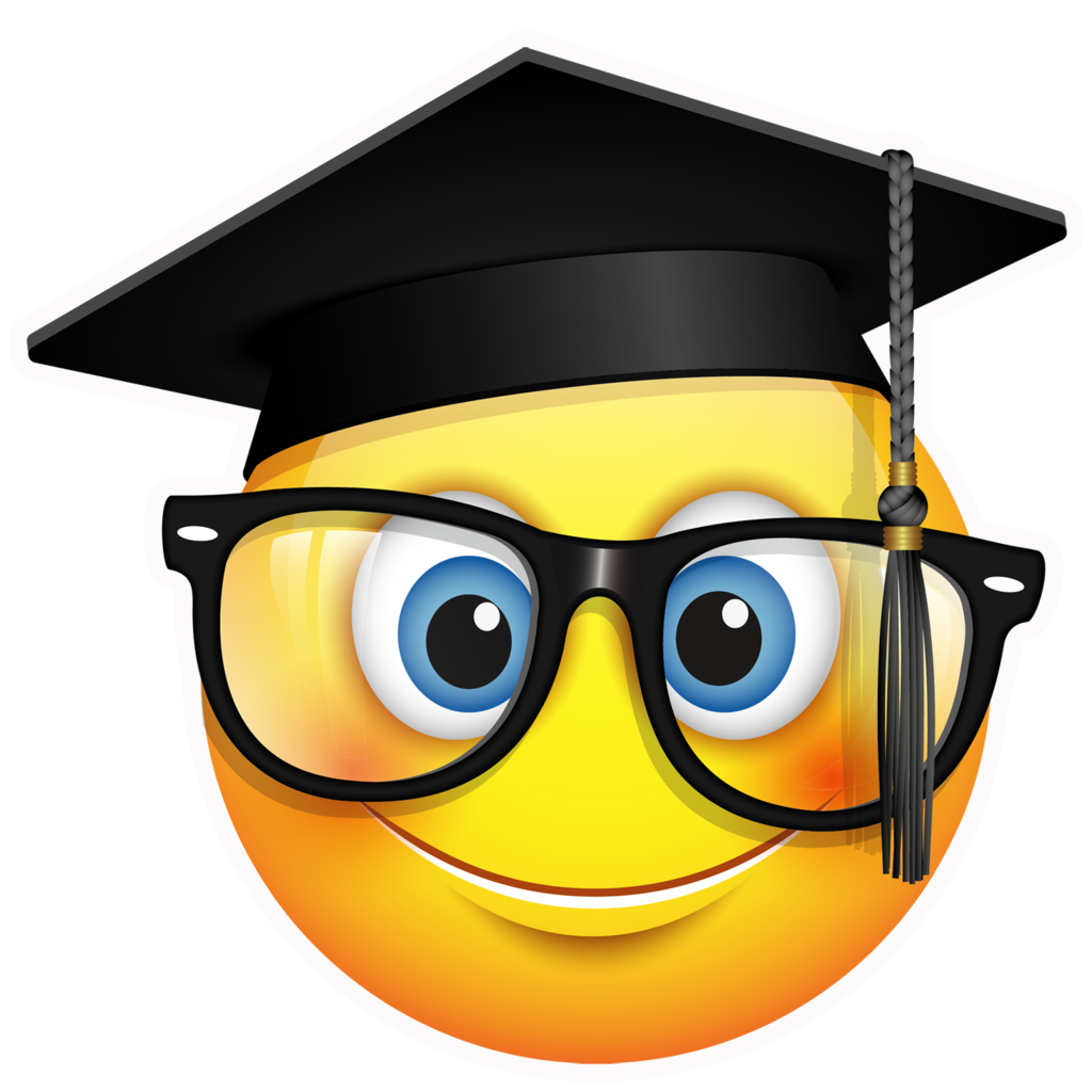 Ceremony emoji square academic. Smiley clipart graduation