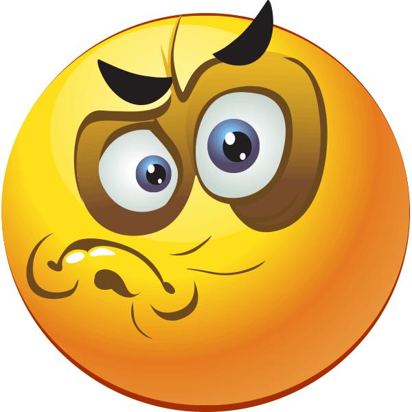 Smiley emojis and smileys. Emoji clipart grumpy