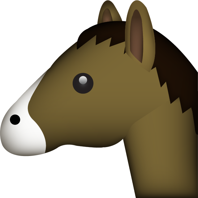 Emoji clipart horse. Download image in png