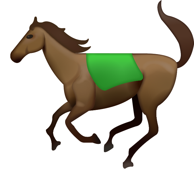 Download running iphone icon. Emoji clipart horse