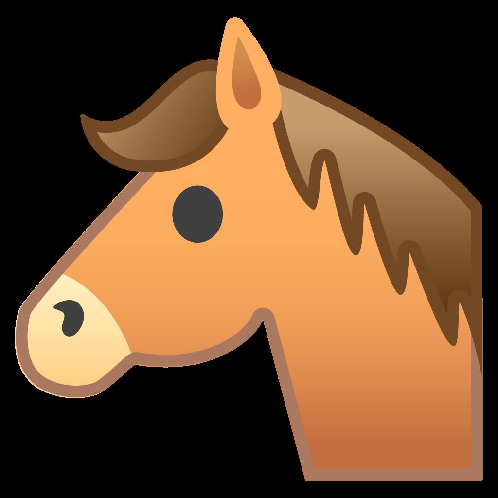 Emoji clipart horse. Face icon noto animals