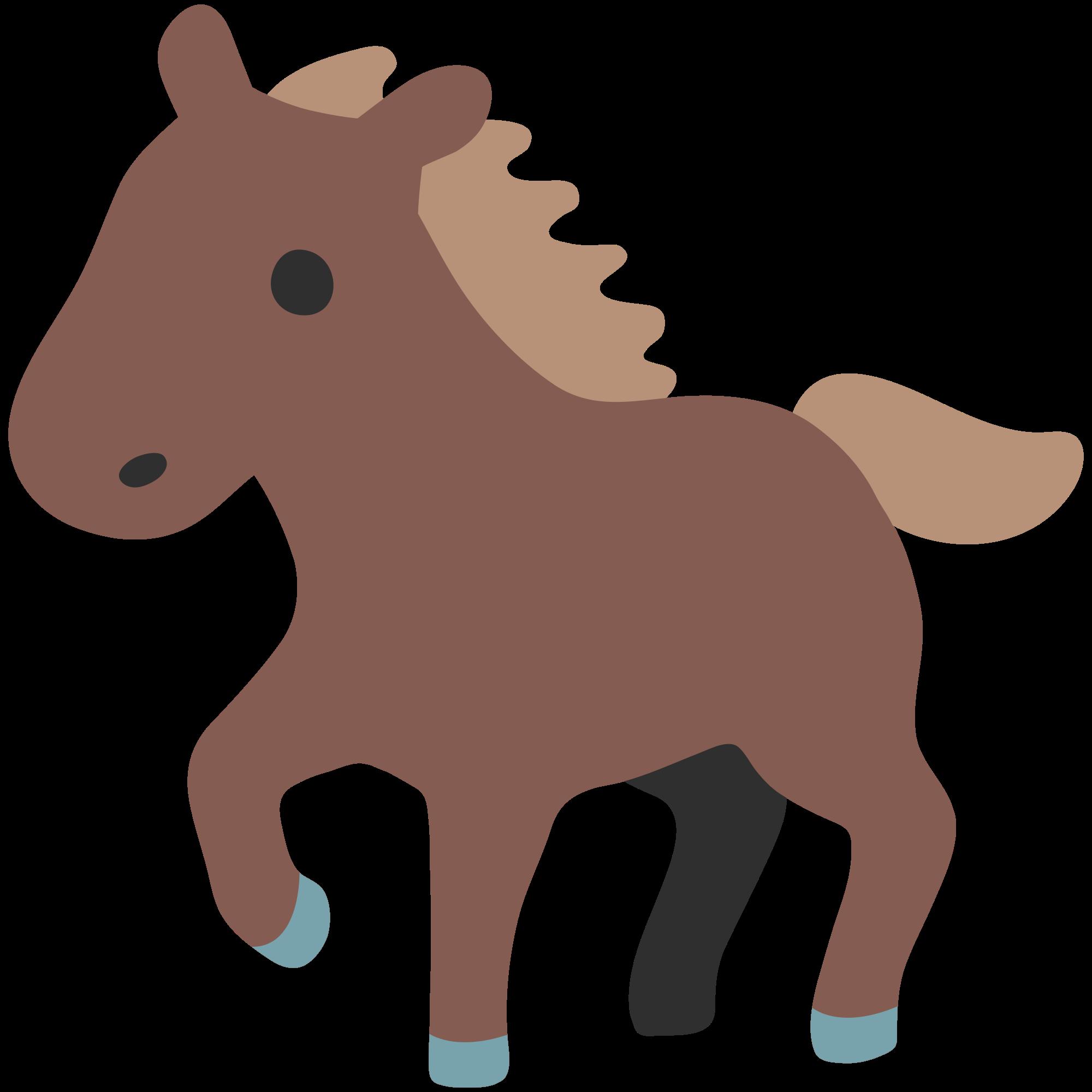 File u f e. Emoji clipart horse
