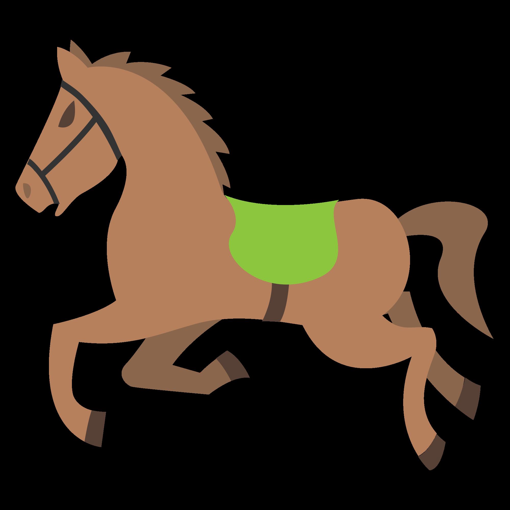 Emoji clipart horse. File emojione f e
