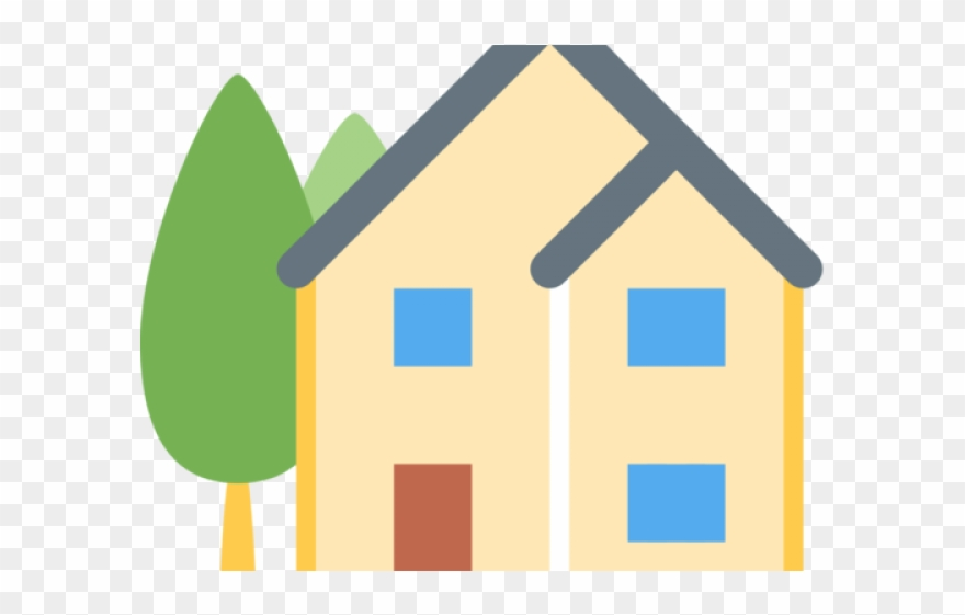Houses clipart emoji. House transparent background