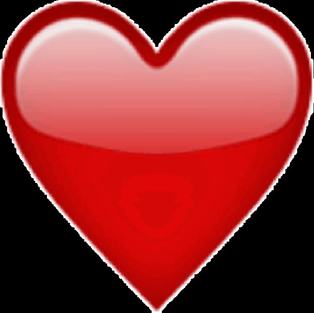 Emoji clipart iphone. Coeur ios sticker by