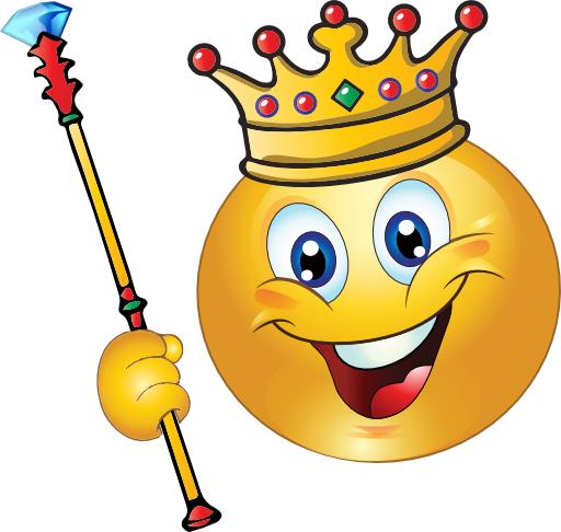 Smiley face smileys images. Emoji clipart king