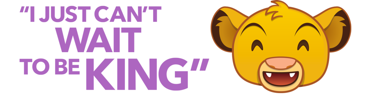 Emoji clipart king. Disney characters share