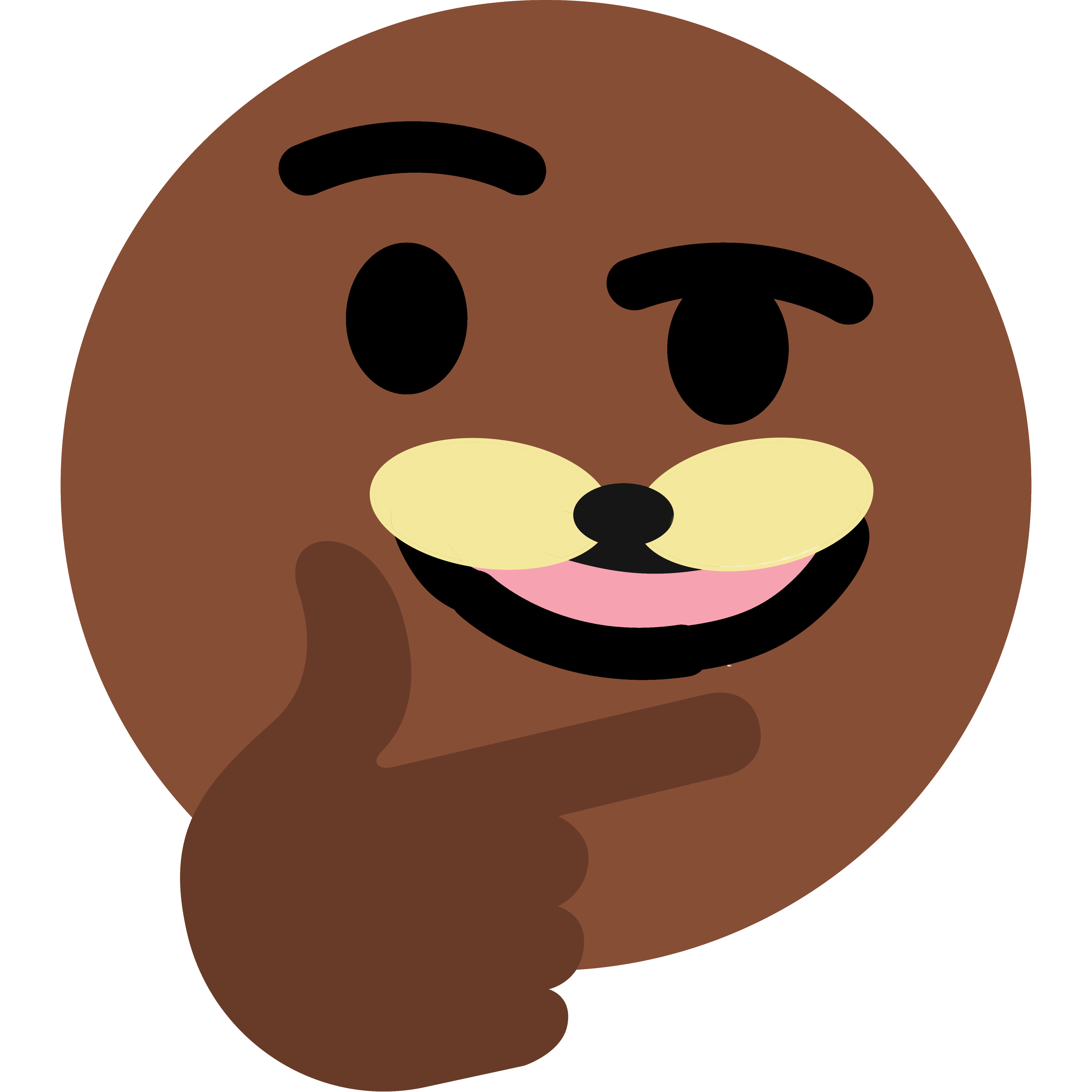 Thinking spurdo face snout. Emoji clipart king