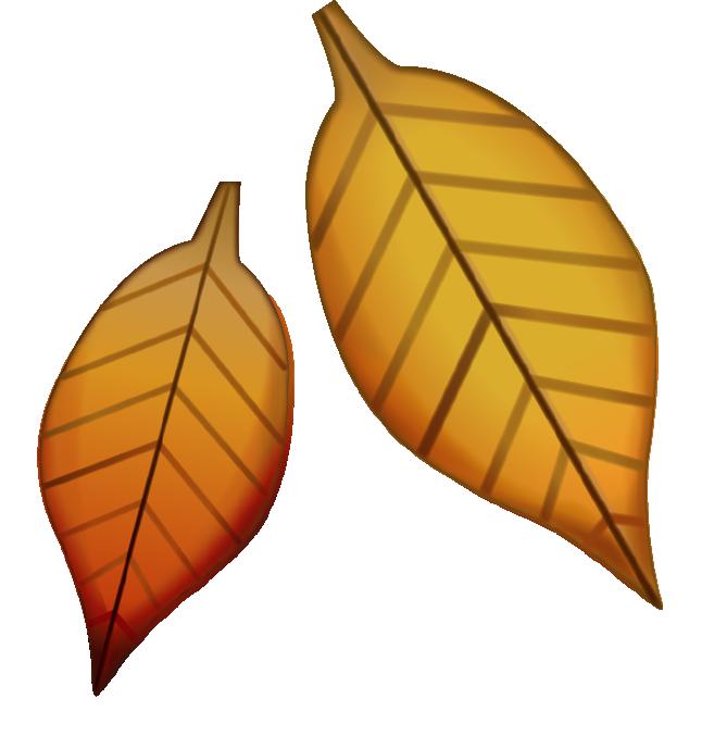 Download fallen image in. Emoji clipart leaf