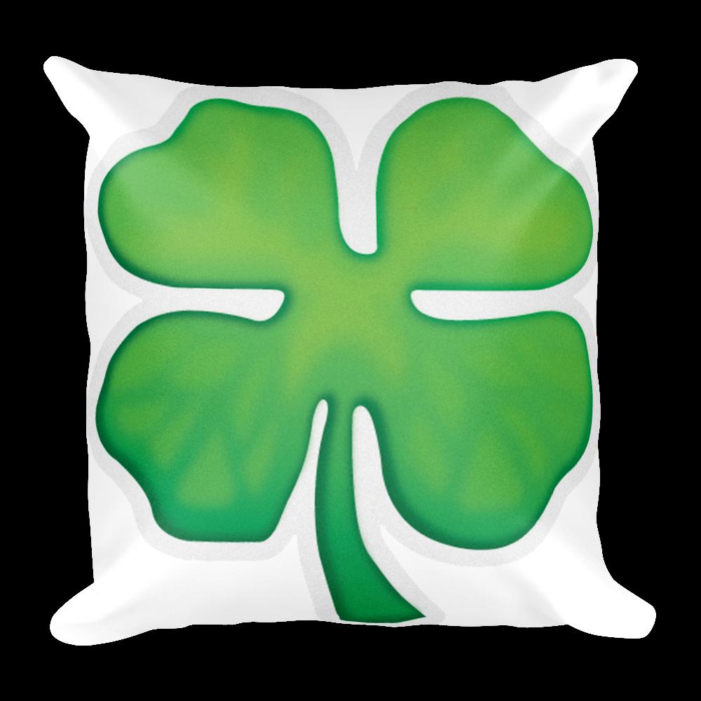 Pillow four clover just. Emoji clipart leaf