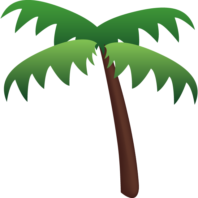 Download palm tree icon. Emoji clipart leaf