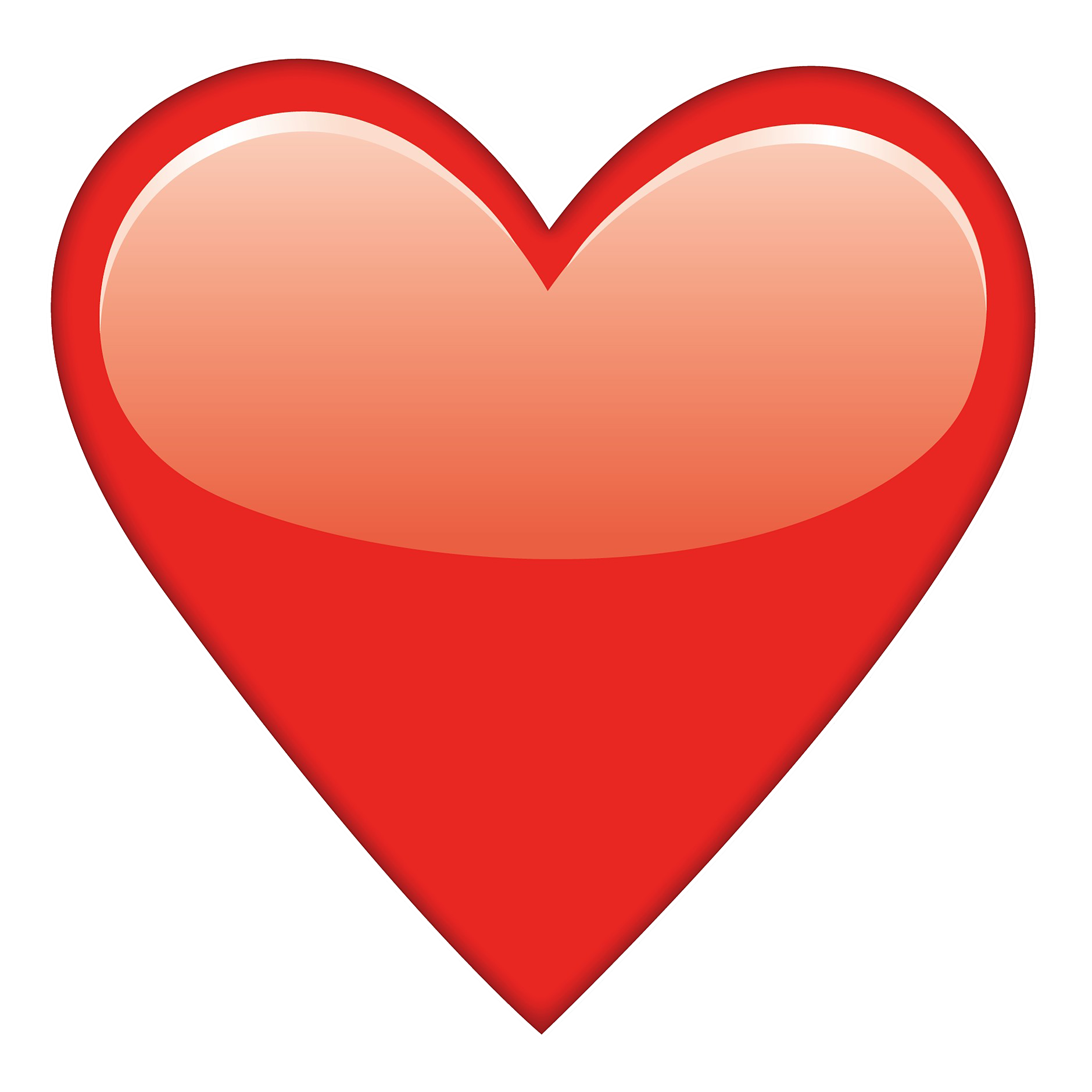 Emoji hearts png. Red heart