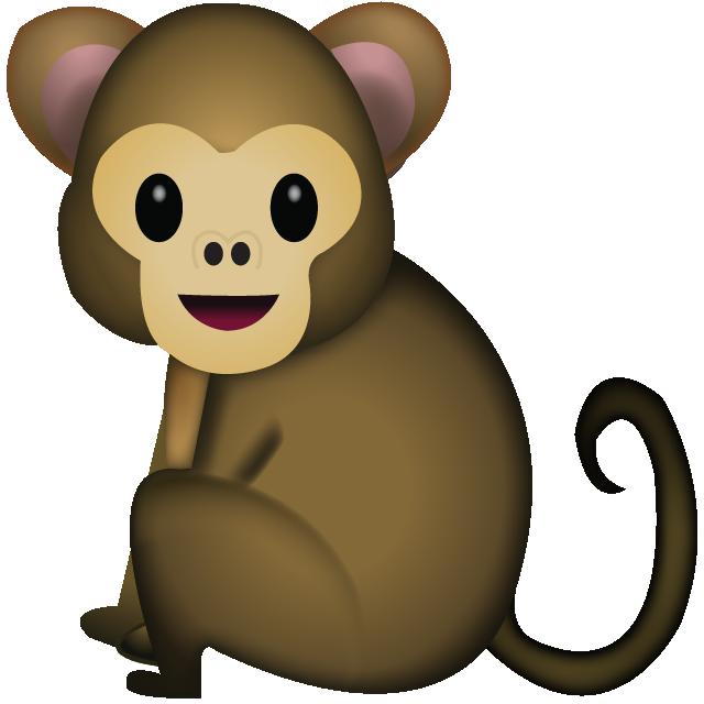 Download monkey emoji icon. Softball clipart tail