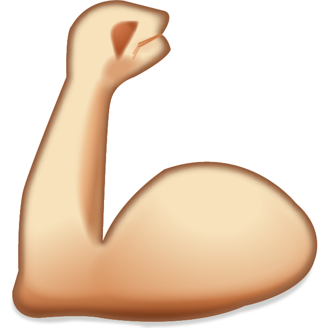 Gym clipart muscle arm. Download flexing muscles emoji