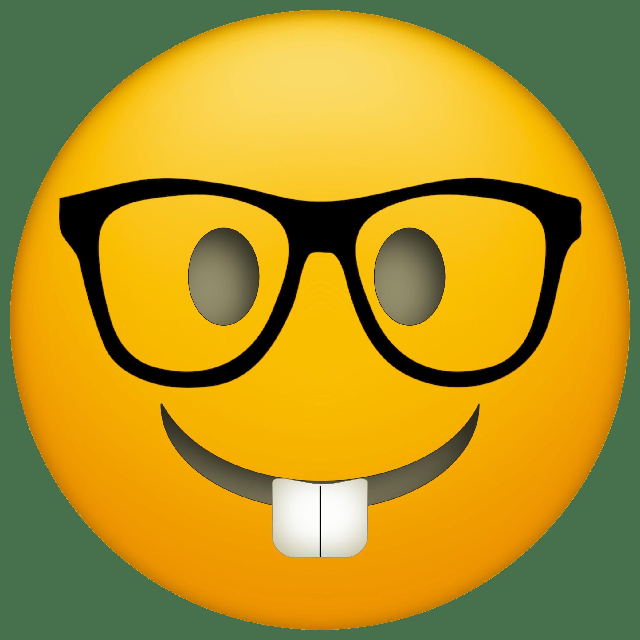Emoji nerd glasses png. Glass clipart face