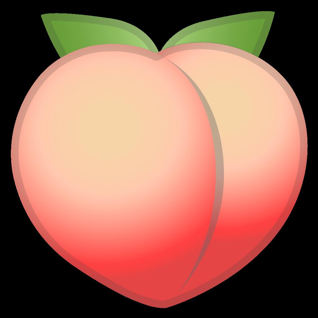 Peach clipart emoji. Icon noto food drink