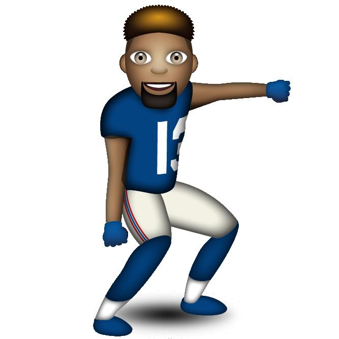 Emoji clipart person.  fantasy football stars