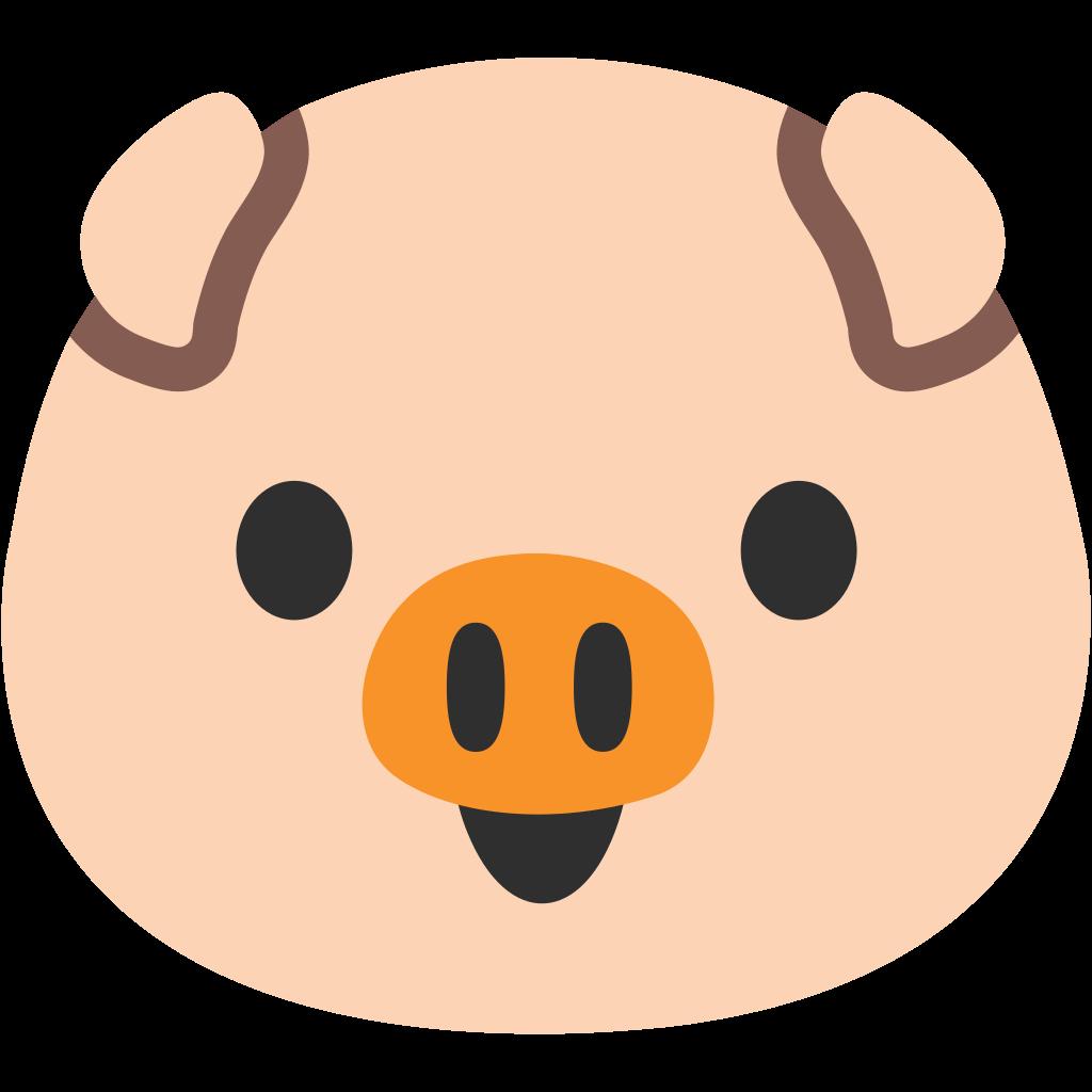 Emoji clipart pig. Snake vs bricks version