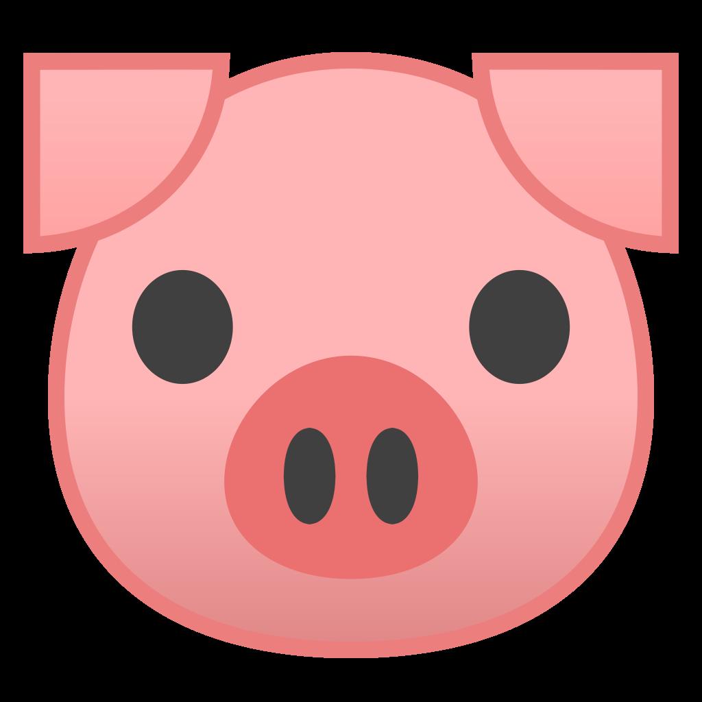 Face icon noto animals. Emoji clipart pig