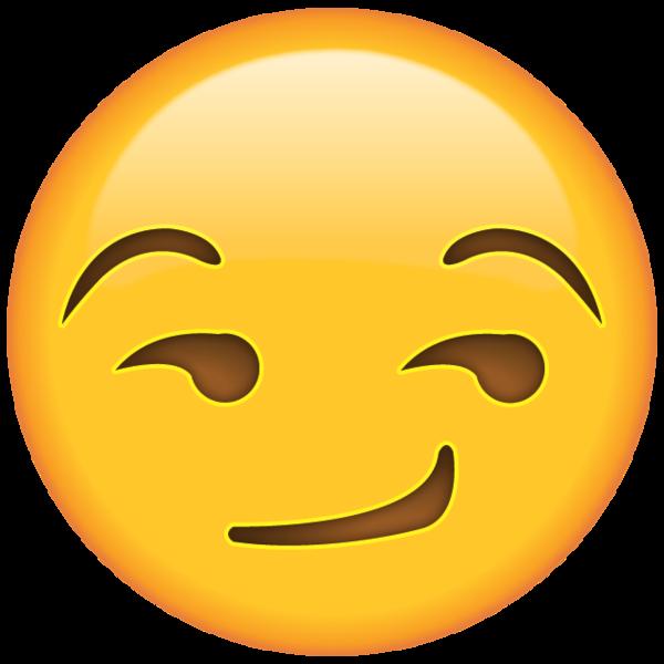 Smirk face when you. Emoji clipart present